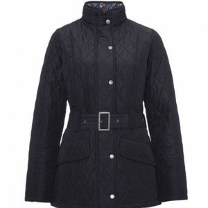 NWT $400 Barbour navy blue quilted jacket sz 6